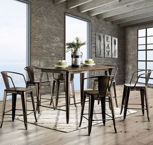 7 Piece Counter Height Dining Set for Sale in Richardson, TX