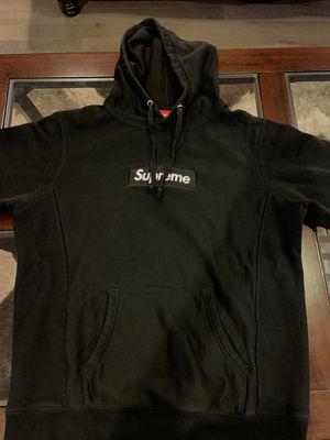 Supreme Black On Black Box Logo Hoodie for Sale in Daniels, MD