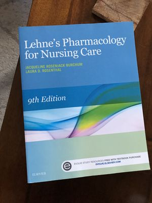 Lehne's Pharmacology for Nursing Care 9th Edition for Sale in Brookline, MA