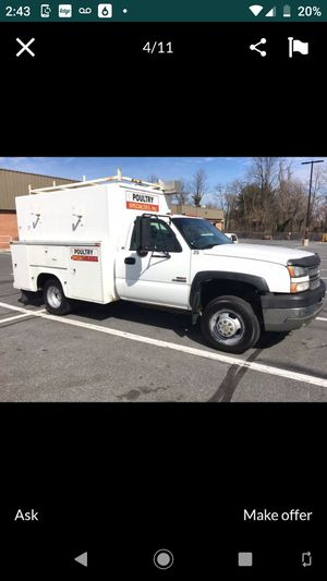 2006 Chevy 3500 Duramax Diesel service truck for Sale in Rockville, MD