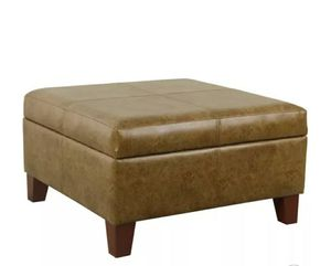 """NEW - IN-BOX - 28"""" BROWN LARGE LUXURY FAUX LEATHER STORAGE OTTOMAN for Sale in Huntington Beach, CA"""
