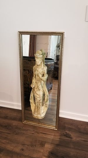 Vintage Parisian-Asian wall mirror , bamboo frame for Sale in Los Angeles, CA