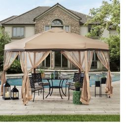New 11 ft. x 11 ft. Eryn Popup Gazebo, Gold Color for Sale in Hacienda Heights,  CA