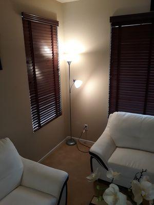 Tall white floor lamp for Sale in Murrieta, CA