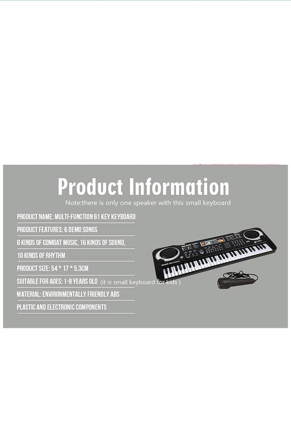 61 Key Keyboard Piano For Kids ,Children Portable Electric Organ ,Music Electronic Keyboards Piano Educational Toy For Boy Girls, Melody 61 Beginner