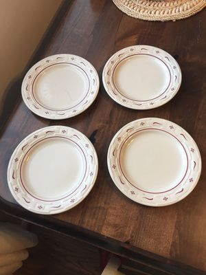 Longaberger Set of 4 Traditional Red Lunch Plates for Sale in Washington, DC
