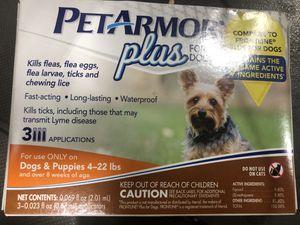 Pet armor plus for dogs 4-22 lbs.! for Sale in Roanoke, VA