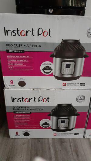 Instant Pot 8qt Duo Crisp Pressure Cooker & Air Fryer Combo Brand New $120 each. (Price is Firm) for Sale in Gardena, CA