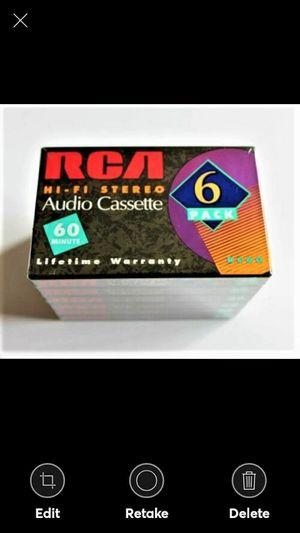 6 PK Cassettes - RCA HI-FI Cassette *60 for Sale in Lynchburg, VA