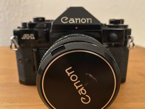 Canon A-1 35mm film camera, film tested with 50mm prime lens for Sale in Arlington, TX