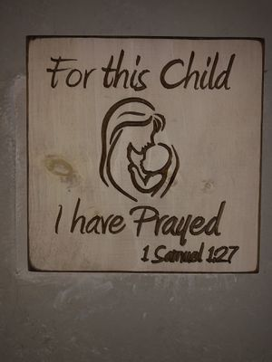 For this child I have prayed nursery plaque picture decor for Sale in Huntersville, NC