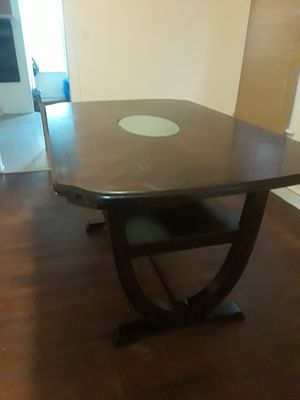Dark cherry wood dining room table for Sale in Camden, NJ
