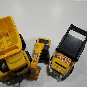 Tonka And Little Tikes Dump Trucks And Digger Large for Sale in Plainview, NY