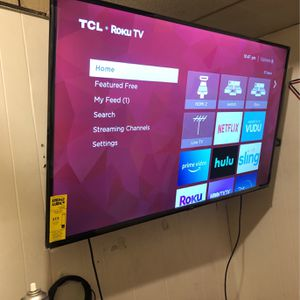"TCL 55"" Smart Tv Roku Clean(No Crack) (like New) for Sale in Philadelphia, PA"