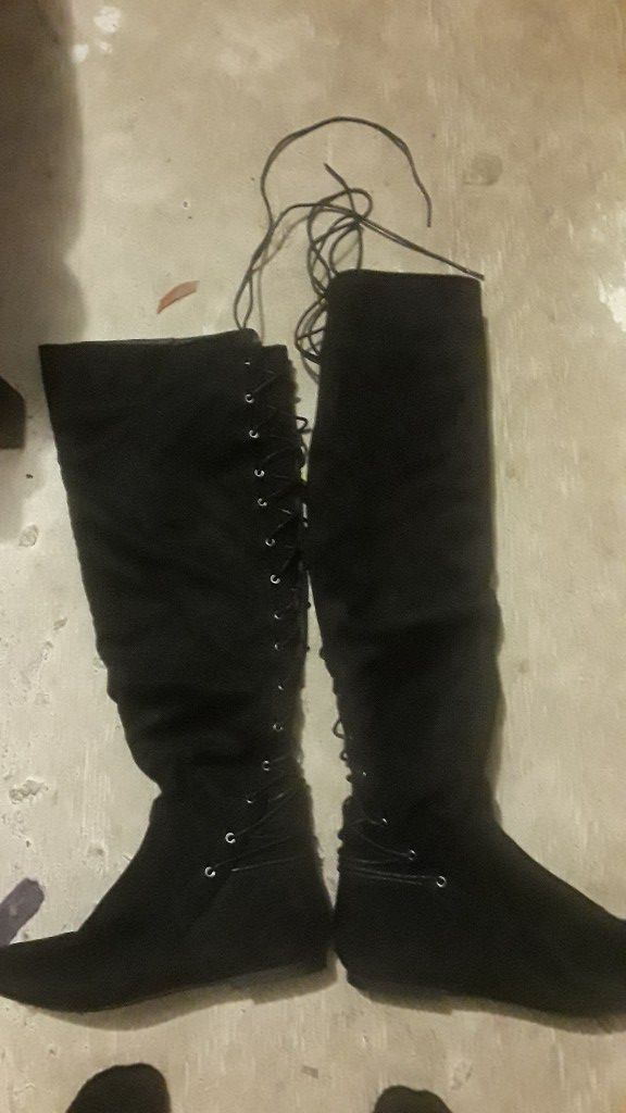 Thigh high boots size 11.