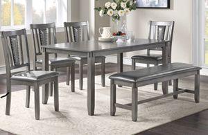 6pcs dining table set grey for Sale in La Puente, CA