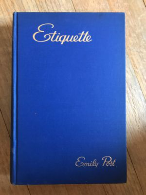 Etiquette Book by Emily Post 1945 - Wedding Etiquette - Illustrated - Very Rare Book for Sale in Cherry Valley, AR
