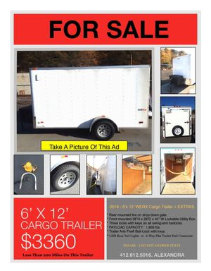 6x12 cargo trailer landscaping, carpentry, construction for Sale in Verona, PA