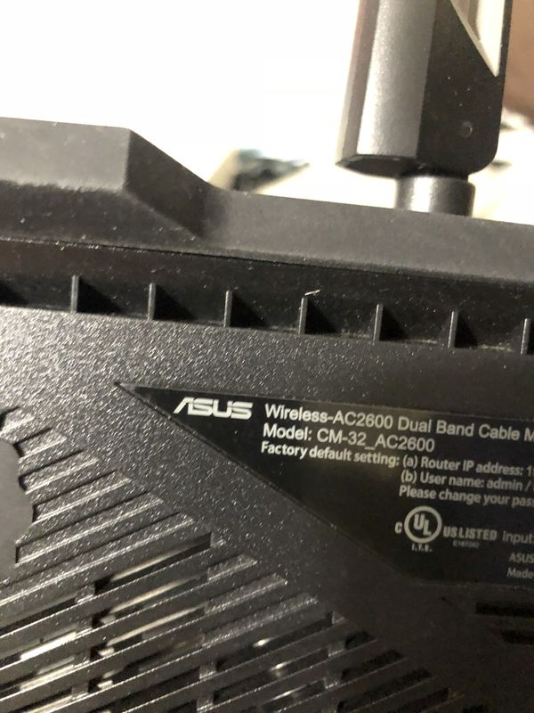 Asus modem/router combo comcast