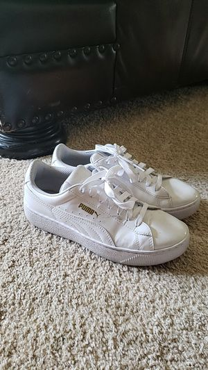 Puma Platform Sneakers Size 6 US women's White Patent Leather for Sale in West Palm Beach, FL