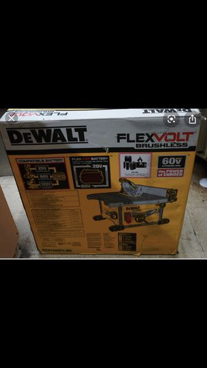 Dewalt Flexvolt 60 VOLT MAX cordless table saw. Model number-DCS7485T1-EB. Comes with two 60V MAX batteries and a fast charger. for Sale in Lynnwood, WA