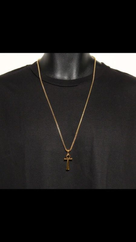 18k Platted Gold Chain +18k Platted Gold Pendant