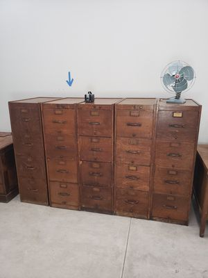 Antique Globe Filing Cabinets Set for Sale in Glendale, AZ