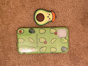 I phone 11 Avocado case and pop socket for Sale in Phoenix, AZ