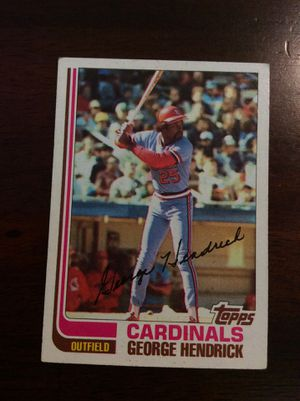 GEORGE HENDRICK SIGNED BASEBALL CARD for Sale in Santa Fe Springs, CA