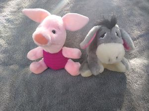 Sears Exclusive Piglet and Eeyore Plushies for Sale in Cumming, GA