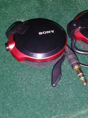 Sony red and black clip on stereo Headphones with retractable cord MDR-Q38LW-B for Sale in Clearwater, FL