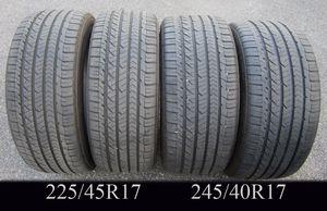 "FOUR GOODYEAR EAGLE SPORT 17"" tires 245/40R17 x2 plus 225/45R17 x2 for Sale in West Warwick, RI"