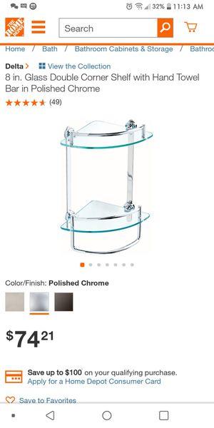 Never used Bathroom glass shelf/Bedroom Glass shelf for Sale in Wood Village, OR
