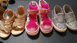 3 pair of toddler girl shoes size 7 $15 for Sale in Las Vegas, NV