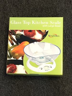 WeighMax Glass Top Kitchen Scale with Large Bowl for Sale in Phoenix, AZ