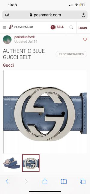 Real Gucci belt no box for Sale in Paramount, CA