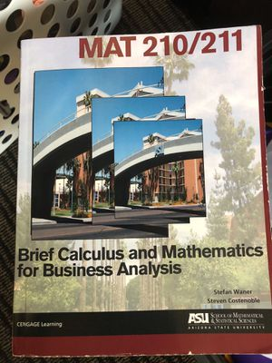 MAT210/211 Brief Calculus & Mathematics for Business Analysis for Sale in Tempe, AZ