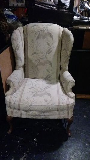 Wingback chair solid wood feather legs for Sale in Philadelphia, PA