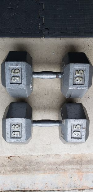 95 lb Hex dumbbells for Sale in Ellenwood, GA