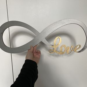 Infinity Love Sign - Wedding Decor Or Home Decor for Sale in Chicago, IL