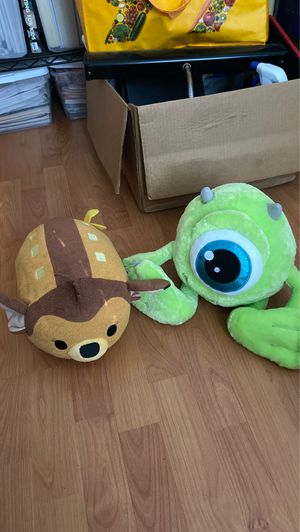 Disney plushie stuffed animal lot (tsum tsum, monsters Inc mike wazowski) for Sale in South Pasadena, CA