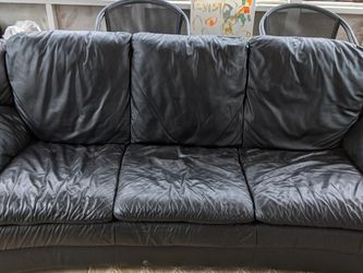 Black Leather Sofa Delivery Upon Request for Sale in Smyrna,  GA