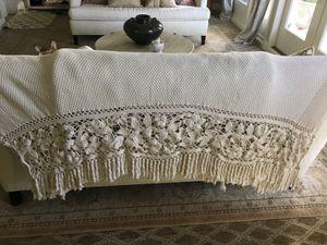 Throw blanket - beautiful crochet detail for Sale in Seattle, WA