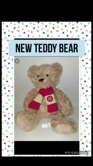 New Teddy Bear with Tag and Scarf for Sale in Kansas City, MO