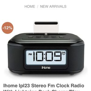 iHome Stereo Fm Clock Radio/ Phone Charger for Sale in San Diego, CA