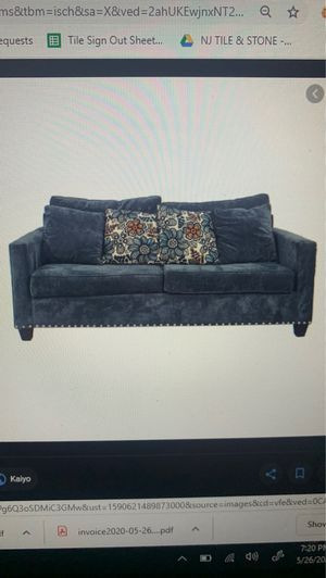 Navy Studded Sofa/Pullout for Sale in Marlboro Township, NJ