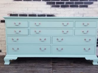 French provincial/Shabby chic. Dresser. 10 Drawers. Sea foam green for Sale in Costa Mesa,  CA