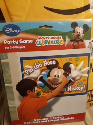 Disney pin the nose on mickey game for Sale in Plainfield, IL