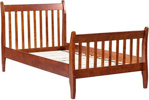 Twin size only platform bed walnut solid wood for Sale in Fort Worth, TX