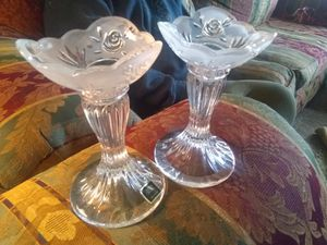Real crystal candlesticks for Sale in Duncan, OK